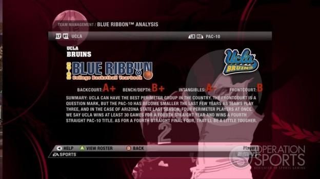 NCAA Basketball 09 Screenshot #67 for Xbox 360