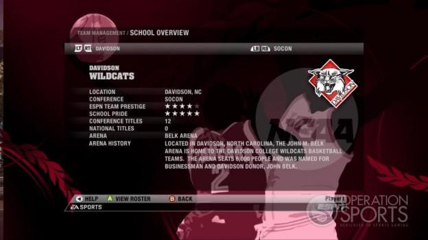 NCAA Basketball 09 Screenshot #69 for Xbox 360