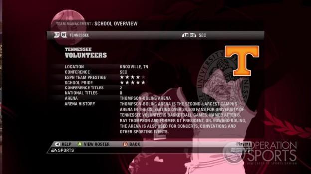NCAA Basketball 09 Screenshot #77 for Xbox 360