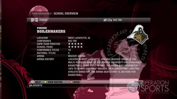 NCAA Basketball 09 Screenshot #79 for Xbox 360