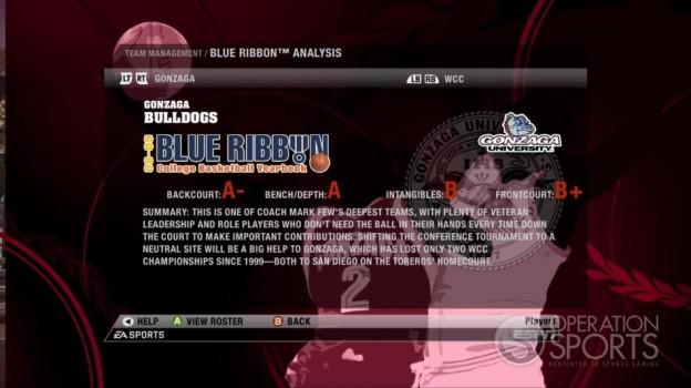 NCAA Basketball 09 Screenshot #81 for Xbox 360