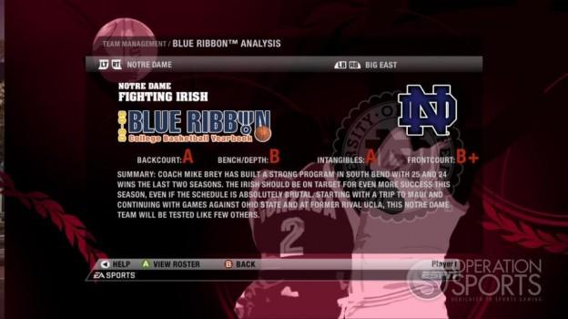 NCAA Basketball 09 Screenshot #82 for Xbox 360