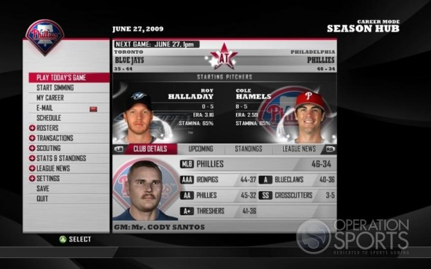 MLB Front Office Manager Screenshot #1 for Xbox 360