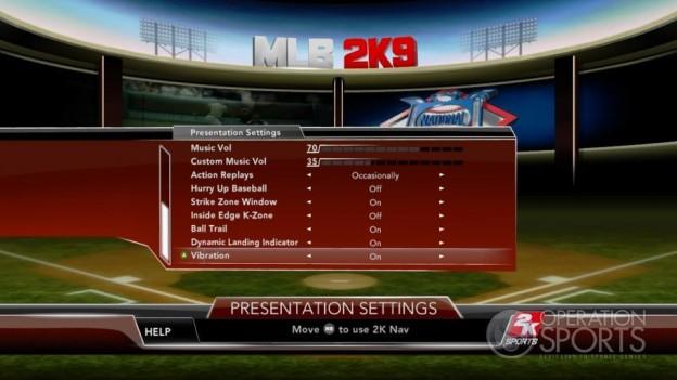 Major League Baseball 2K9 Screenshot #122 for Xbox 360