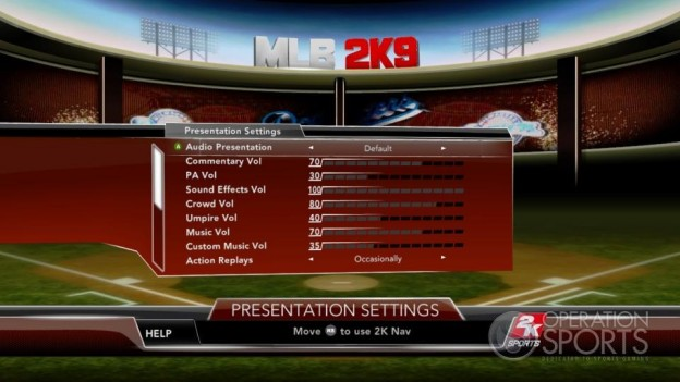 Major League Baseball 2K9 Screenshot #123 for Xbox 360