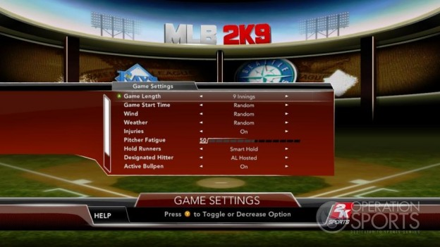 Major League Baseball 2K9 Screenshot #125 for Xbox 360