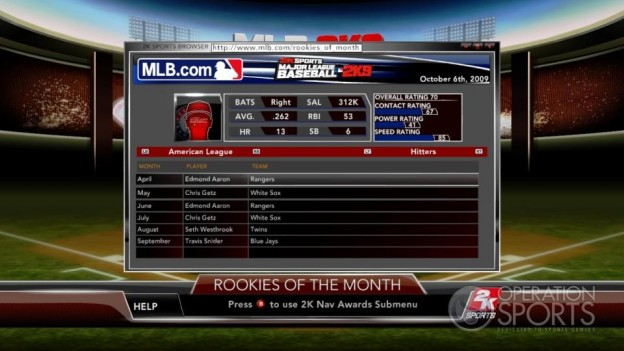 Major League Baseball 2K9 Screenshot #134 for Xbox 360