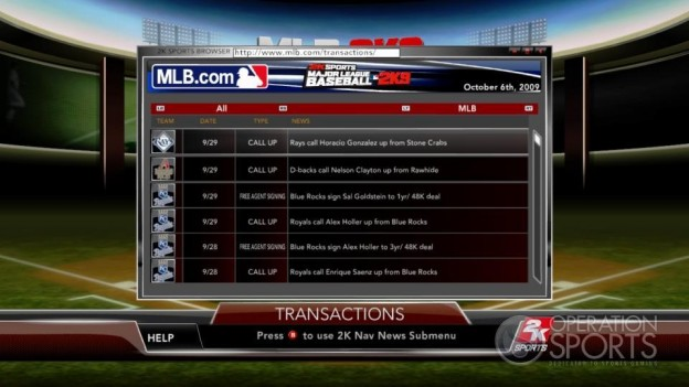 Major League Baseball 2K9 Screenshot #141 for Xbox 360
