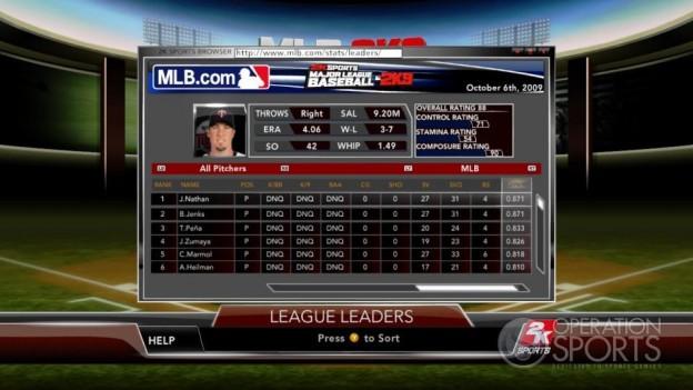 Major League Baseball 2K9 Screenshot #150 for Xbox 360
