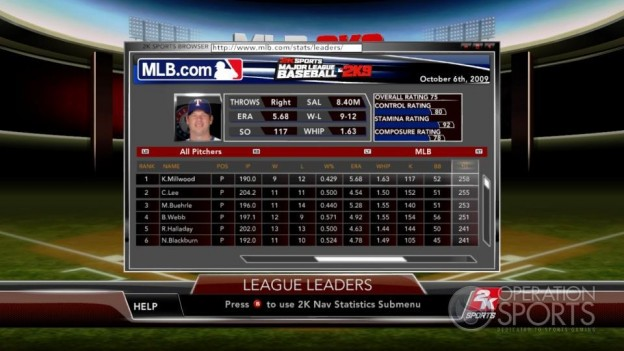 Major League Baseball 2K9 Screenshot #162 for Xbox 360
