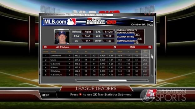 Major League Baseball 2K9 Screenshot #162 for Xbox 360