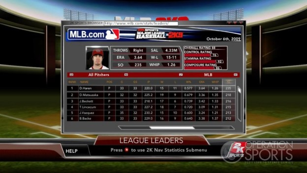 Major League Baseball 2K9 Screenshot #164 for Xbox 360