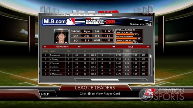 Major League Baseball 2K9 Screenshot #167 for Xbox 360