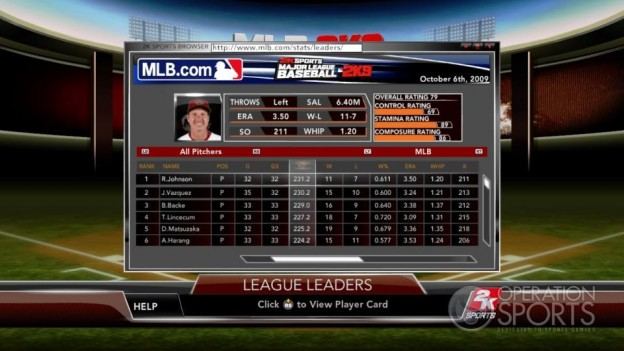 Major League Baseball 2K9 Screenshot #171 for Xbox 360