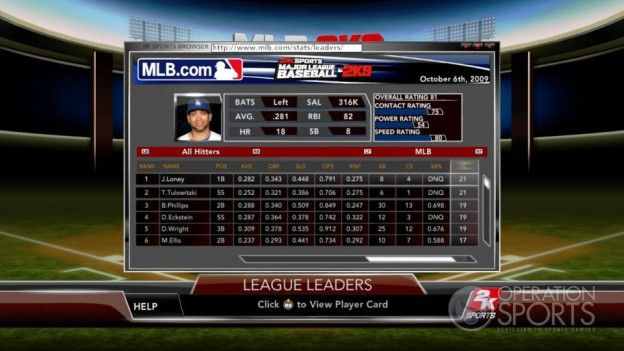 Major League Baseball 2K9 Screenshot #178 for Xbox 360