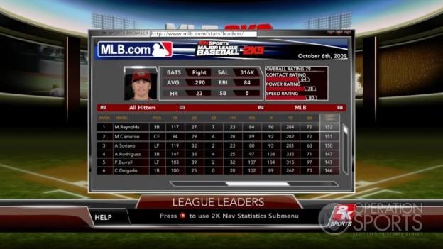 Major League Baseball 2K9 Screenshot #188 for Xbox 360