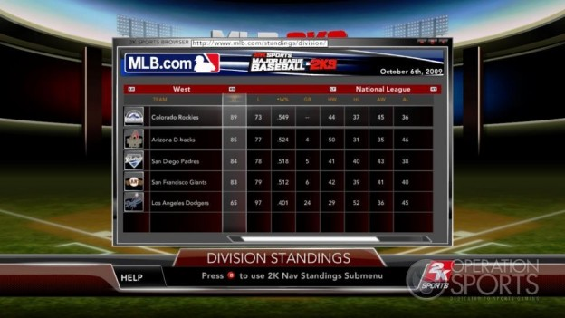Major League Baseball 2K9 Screenshot #203 for Xbox 360
