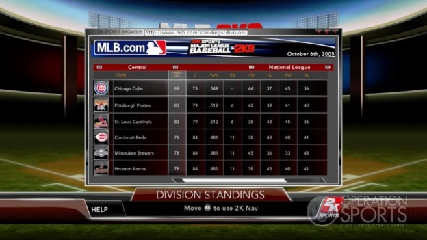 Major League Baseball 2K9 Screenshot #204 for Xbox 360