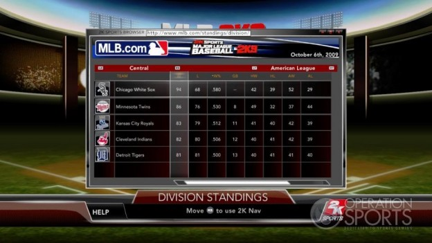 Major League Baseball 2K9 Screenshot #207 for Xbox 360