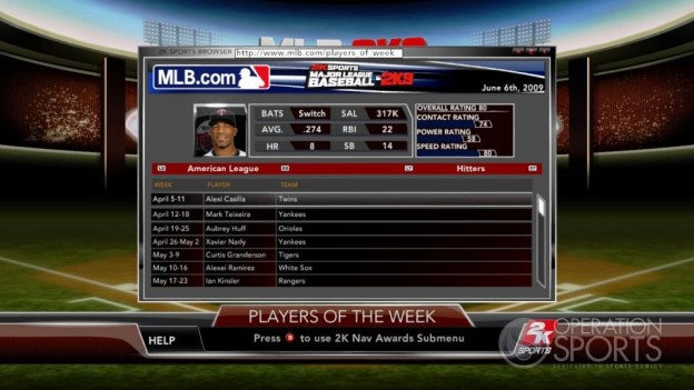Major League Baseball 2K9 Screenshot #218 for Xbox 360