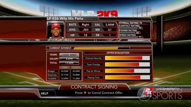Major League Baseball 2K9 Screenshot #232 for Xbox 360