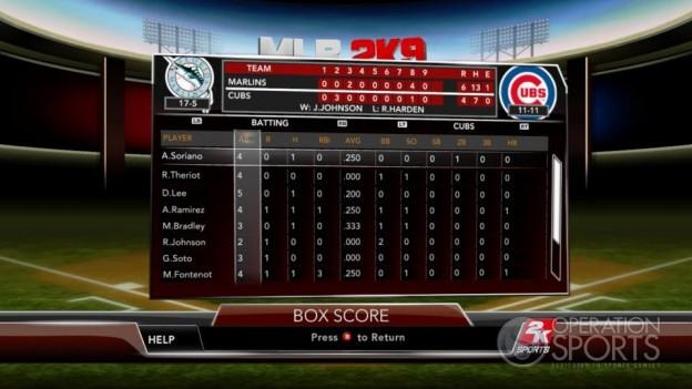 Major League Baseball 2K9 Screenshot #245 for Xbox 360
