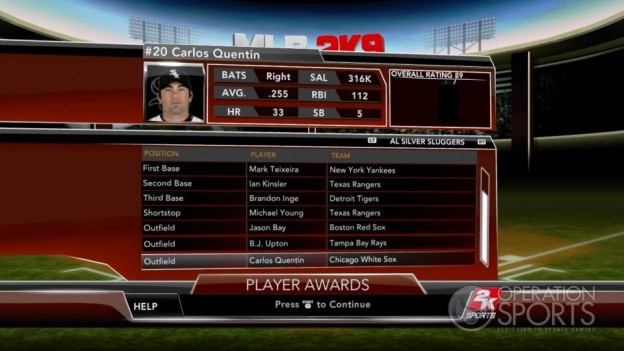 Major League Baseball 2K9 Screenshot #258 for Xbox 360