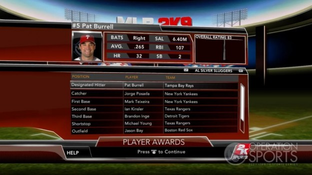 Major League Baseball 2K9 Screenshot #259 for Xbox 360