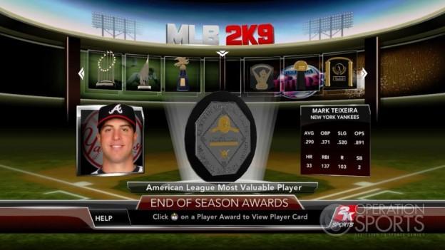 Major League Baseball 2K9 Screenshot #274 for Xbox 360