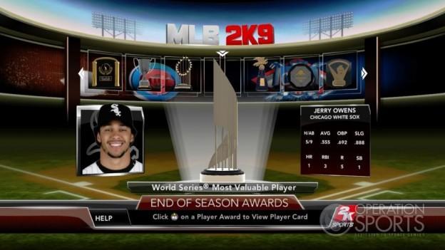 Major League Baseball 2K9 Screenshot #275 for Xbox 360