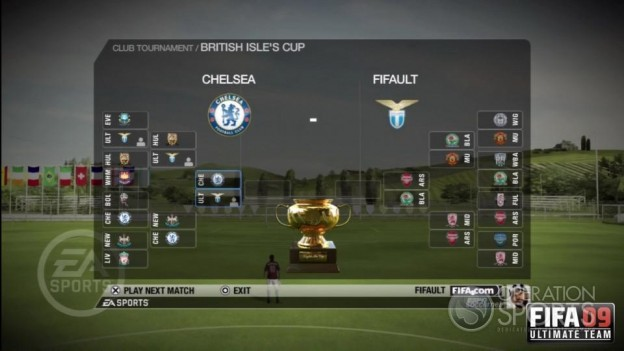 FIFA 09 Ultimate Team Screenshot #1 for Xbox 360