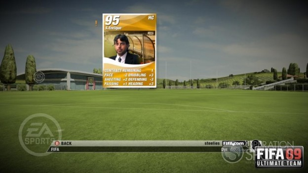 FIFA 09 Ultimate Team Screenshot #3 for Xbox 360