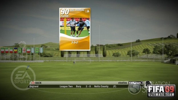 FIFA 09 Ultimate Team Screenshot #6 for Xbox 360