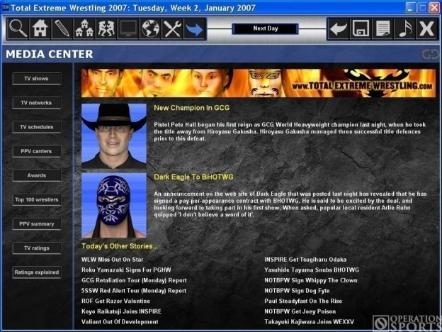 Total Extreme Wrestling 2007 Screenshot #1 for PC