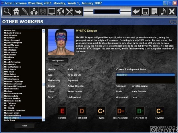 Total Extreme Wrestling 2007 Screenshot #2 for PC