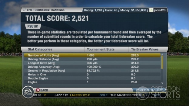 Tiger Woods PGA TOUR 10 Screenshot #15 for Xbox 360
