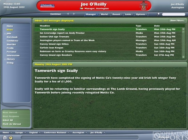 Football Manager 2006 Screenshot #2 for PC