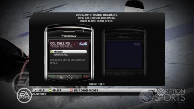 NHL 10 Screenshot #11 for Xbox 360
