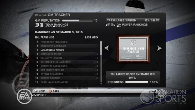 NHL 10 Screenshot #13 for Xbox 360