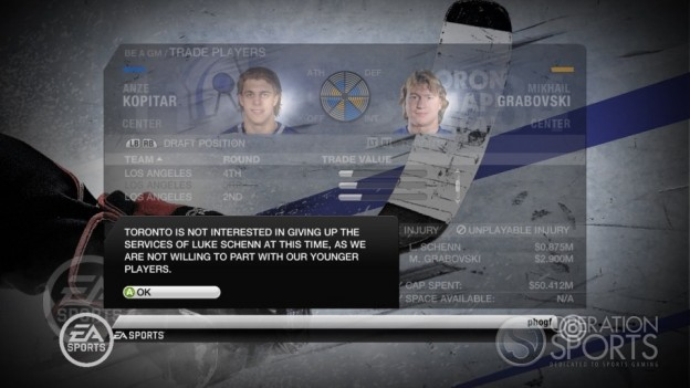 NHL 10 Screenshot #15 for Xbox 360