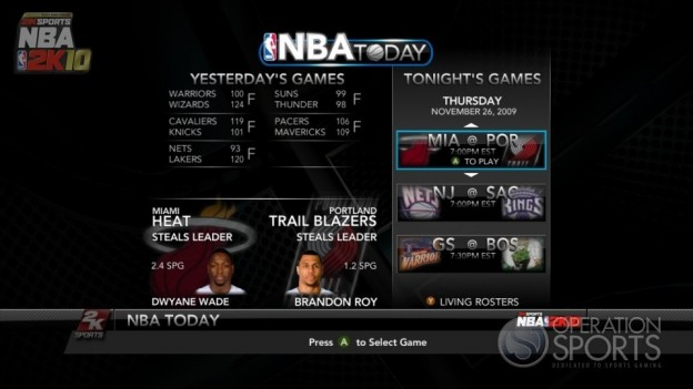 NBA 2K10 Screenshot #21 for Xbox 360