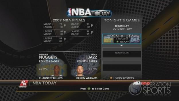 NBA 2K10 Screenshot #159 for Xbox 360