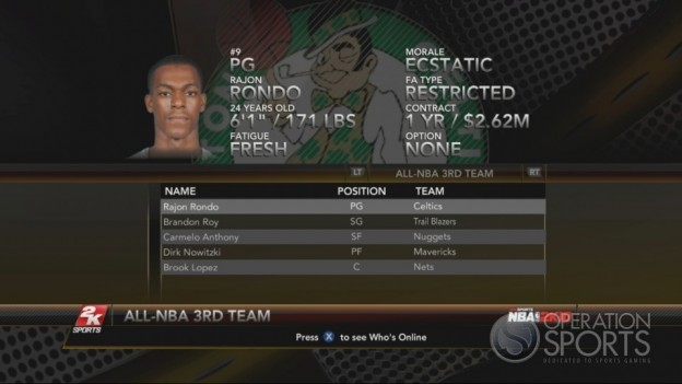 NBA 2K10 Screenshot #184 for Xbox 360