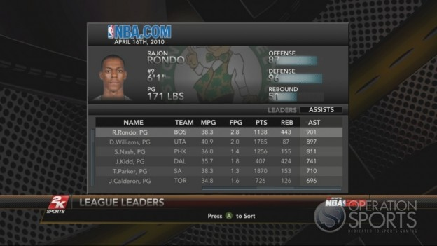 NBA 2K10 Screenshot #219 for Xbox 360