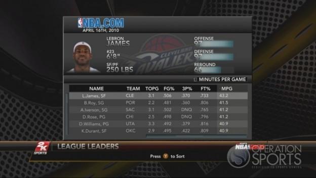 NBA 2K10 Screenshot #223 for Xbox 360