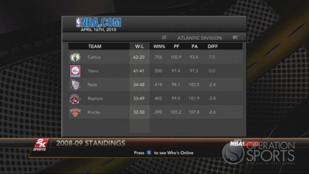 NBA 2K10 Screenshot #239 for Xbox 360