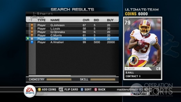 Madden Ultimate Team Screenshot #1 for Xbox 360