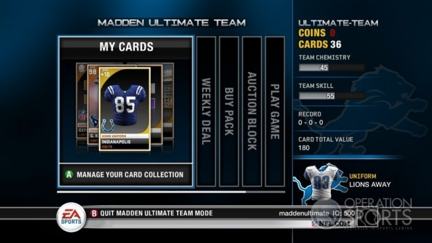 Madden Ultimate Team Screenshot #10 for Xbox 360