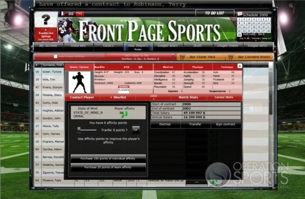FrontPage Sports Football Screenshot #4 for PC