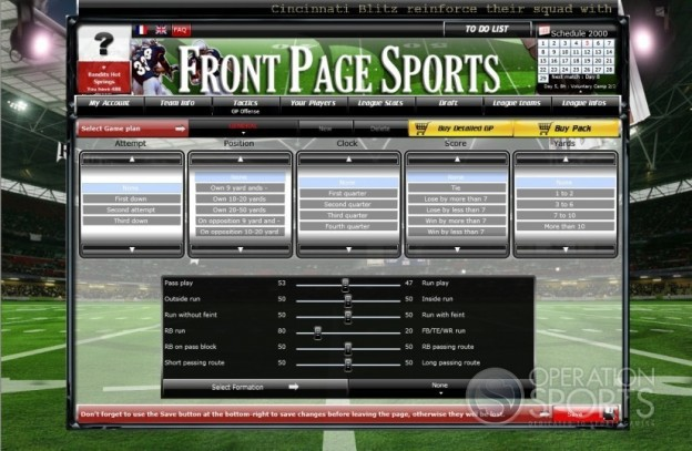 FrontPage Sports Football Screenshot #9 for PC